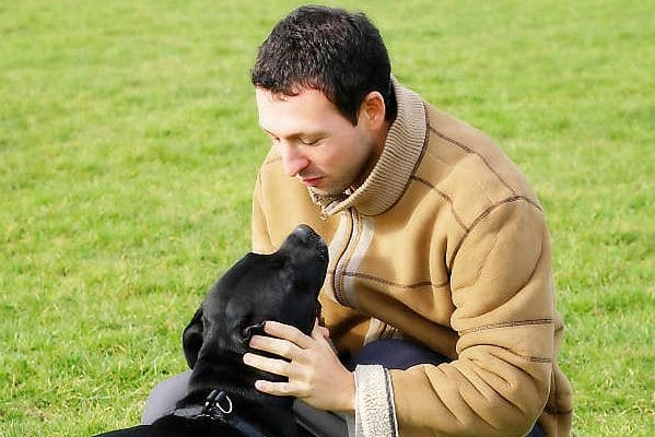 photo of dog boarding & training services being provided by dog trainer