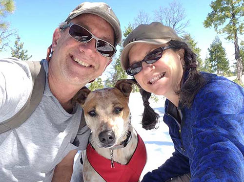 Photo of happy couple and dog for Dog Training Review for Dairydell Canine - Sonoma County, California