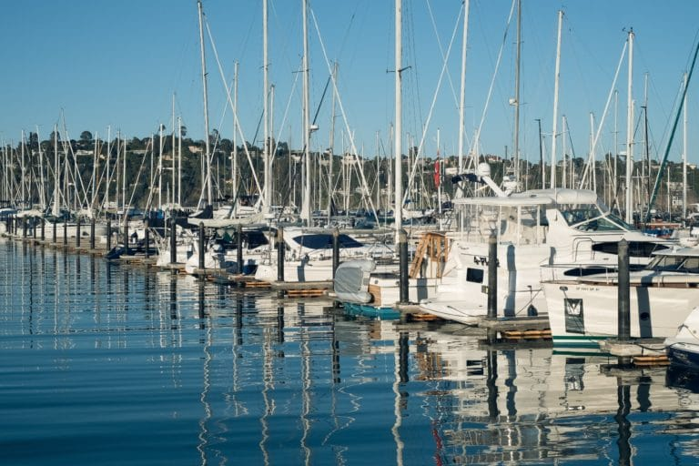 Sausalito boats in harbor
