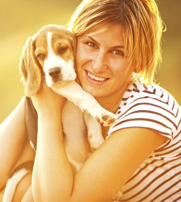 Dairydell's Dog training for women has made this woman a happy puppy owner